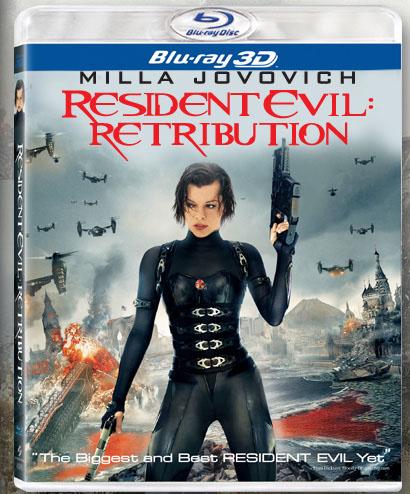 Resident Evil: Retribution blu-ray cover.