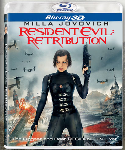 Resident Evil: Retribution blu-ray cover.