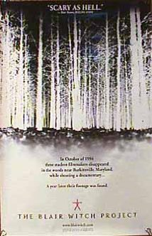The Blair Witch Project movie poster.