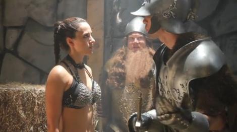 "Screenshot from ""Female Armor Sucks."""