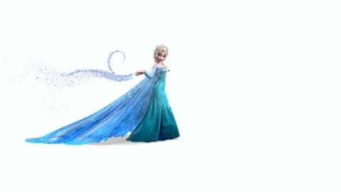 "Elsa singing ""Let It Go"" from Frozen."