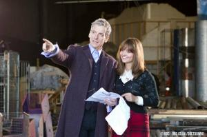 On the set of Doctor Who.