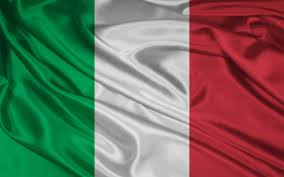 Italian flag graphic.