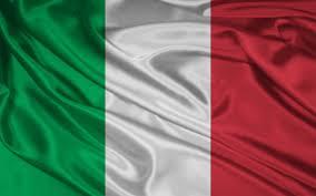 Italian flag graphic.