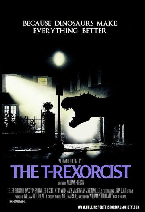 T-Rexorcist poster