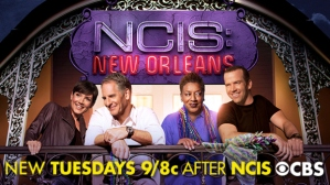 Cast and logo of NCIS: New Orleans.