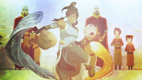 Legend of Korra characters being awesome as usual.