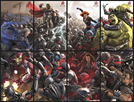 Avengers: Age of Ultron character collage