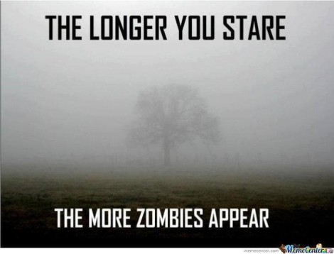 "Zombie picture ""The Longer You Stare"""