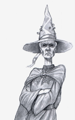 Picture of Granny Weatherwax by Paul Kidby.