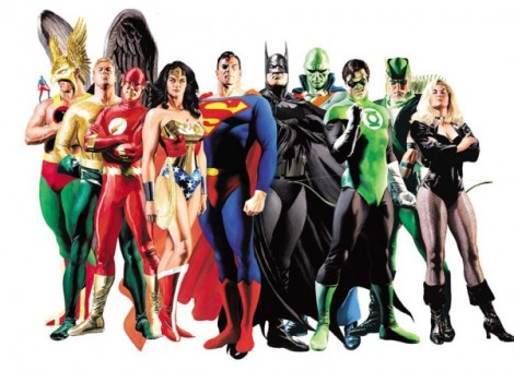 Picture of the Justice League.
