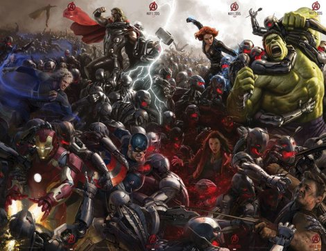 Avengers doing their thing and saving the world again.