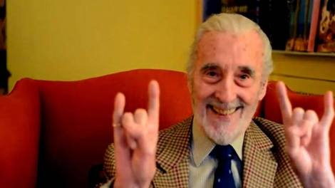 Sir Christopher Lee rocks portrait