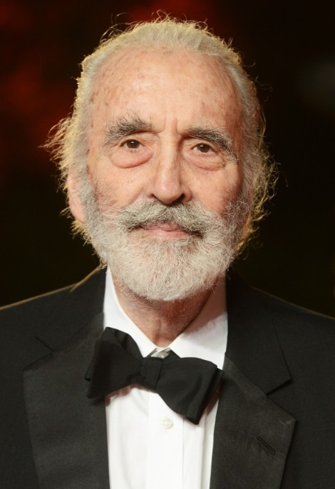 Photo of Sir Christopher Lee.