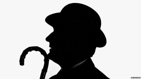 Patrick Macnee's Steed silhouette