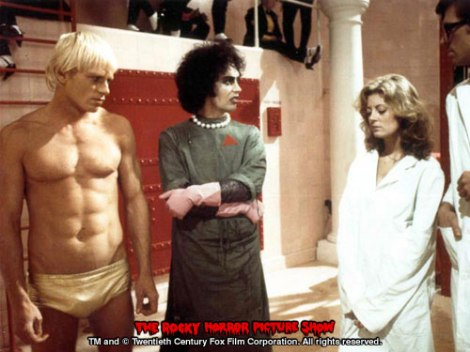 Rocky, Frank-N-Furter, and Janet.