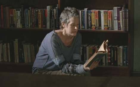 Carol from Walking Dead reading.
