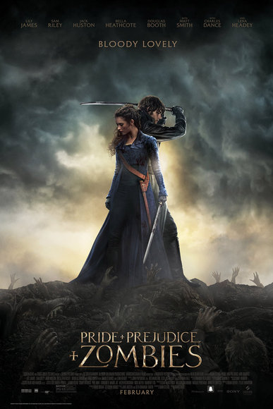 Pride and Prejudice and Zombies official movie poster.