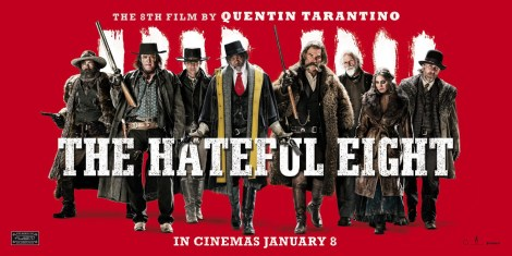 Hateful Eight red horizontal poster