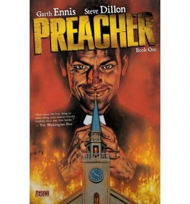 Preacher graphic novel cover for book 1