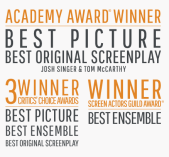 Spotlight movie awards graphic