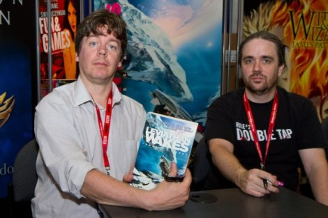 Authors Daniel Abraham and Ty Franck who together are James S.A. Corey.
