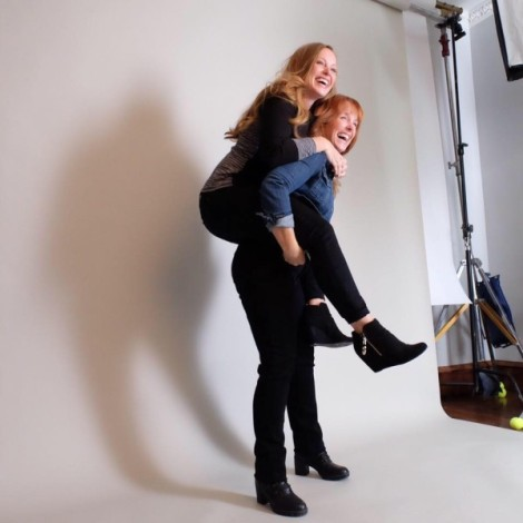 "Two Chicks and a Hammer owners, Mina Starsiak and Karen E. Laine, stars of HGTV's ""Good Bones""."