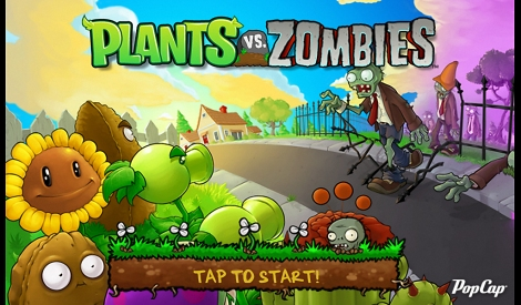 Plants vs Zombie game title screen