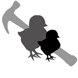 Two Chicks and a Hammer logo
