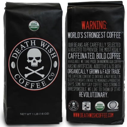 Death Wish coffee bag