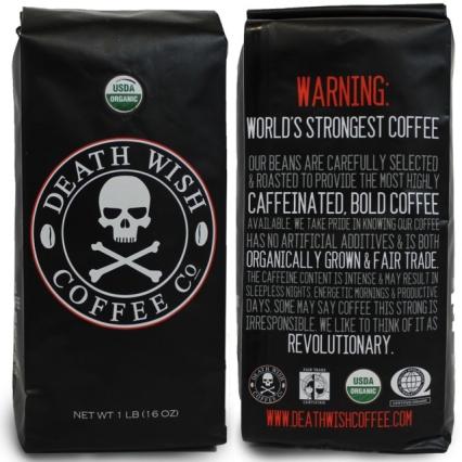 Death Wish coffee bag