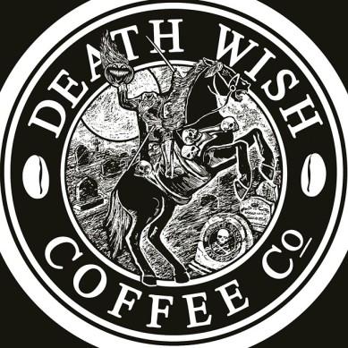 Death Wish Coffee logo with Headless Horseman