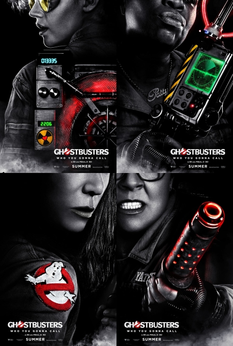 Ghostbusters - Four Busters - 2016 movie poster