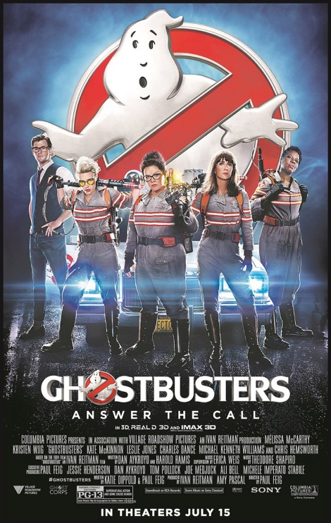 Ghostbusters 2016 movie posters
