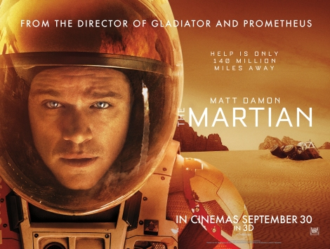 The Martian movie promotion poster