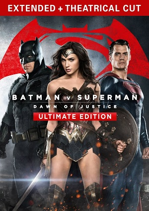 Battman v Superman Ultimate Edition DVD/Blu-Ray cover