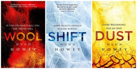 Picture displaying all three book covers to The Silo Series