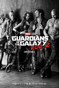 Guardians of the Galaxy Vol. 2 black and white teaser poster