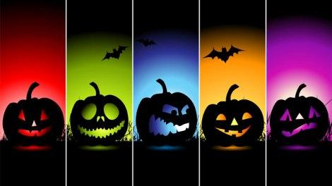 Halloween rainbow pumpkins