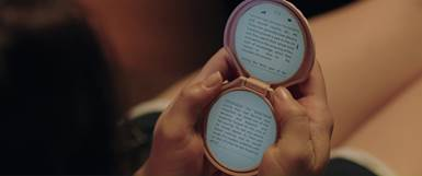 It Follows - image of pink shell mirror