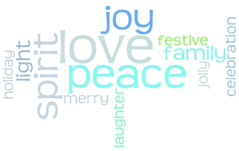 Joy Peace Love and all good holiday things