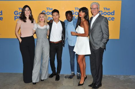 The Good Place cast out of character