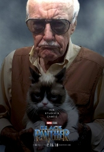 black-panther-stan-lee - the one and only stan lee with grumpy cat