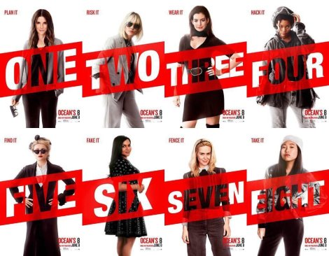 Ocean's 8 movie promo pic with each actress