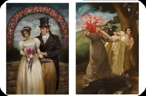 Pride and Prejudice and Zombie artwork