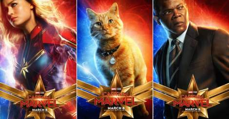 Captain Marvel characters posters