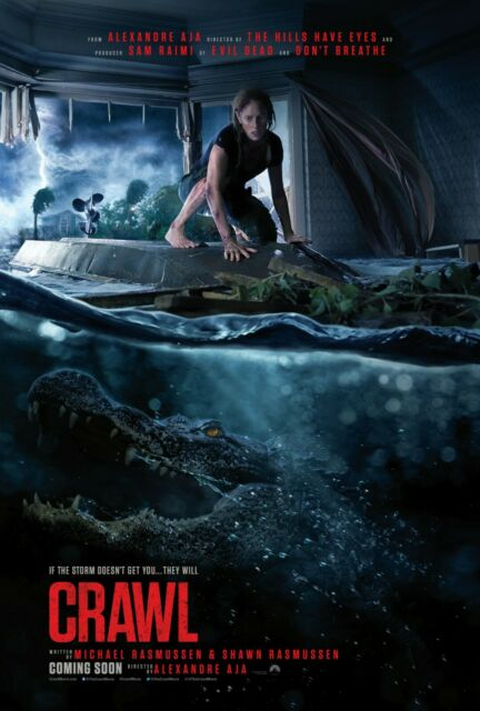 Crawl movie poster featuring heroine.