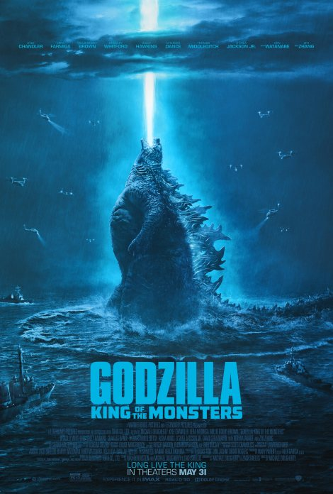 Official movie poster for Godzilla: King of the Monsters