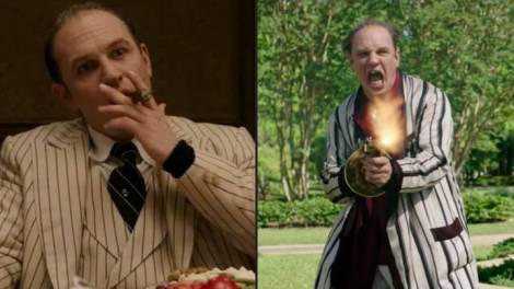 Tom Hardy playing Al Capone.