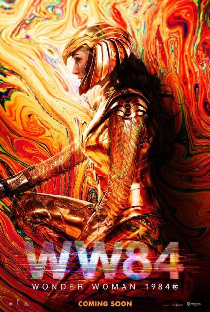 Wonder Woman 1984 golden armor poster